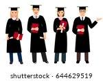 Student Graduation Set Vector...