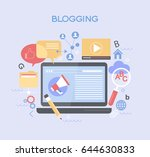 template blogging infographics. ... | Shutterstock .eps vector #644630833