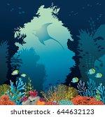 vector illustration with... | Shutterstock .eps vector #644632123