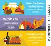 happy thanksgiving banner... | Shutterstock .eps vector #644632318