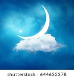 ramadan kareem background... | Shutterstock . vector #644632378