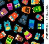 schoolbags and school backpacks ...   Shutterstock .eps vector #644633503