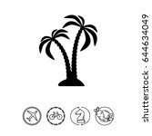 pair of coconut palms icon | Shutterstock .eps vector #644634049
