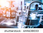 the steel case of the chemical... | Shutterstock . vector #644638033