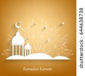 ramadan kareem vector... | Shutterstock .eps vector #644638738