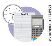 payment tax icon via terminal.... | Shutterstock .eps vector #644639806