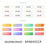 set of colorful buttons. solid... | Shutterstock .eps vector #644644219