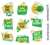 collection of sale discount... | Shutterstock .eps vector #644646079