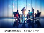 business illustration. working... | Shutterstock . vector #644647744