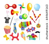 circus illustration template | Shutterstock .eps vector #644649163