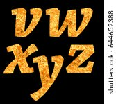 yellow letters of alphabet... | Shutterstock . vector #644652388