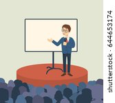 business presentation with... | Shutterstock .eps vector #644653174
