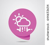 weather icon. flat style for...   Shutterstock .eps vector #644653654