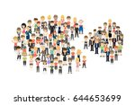 pie chart with people.   Shutterstock .eps vector #644653699