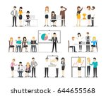 office illustration set. | Shutterstock .eps vector #644655568