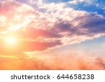 beautiful clouds at sunset | Shutterstock . vector #644658238