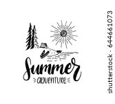 summer adventure poster with... | Shutterstock .eps vector #644661073