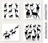 Deer Silhouette  Vector...