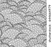 Zentangle Abstract Background...