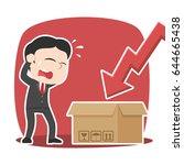 asian businessman panic see... | Shutterstock .eps vector #644665438