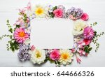 festive flower composition with ... | Shutterstock . vector #644666326
