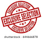 exclusive selection round red... | Shutterstock .eps vector #644666878