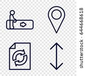 navigation icons set. set of 4...