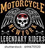 vintage motorcycle t shirt... | Shutterstock .eps vector #644670520
