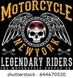 vintage motorcycle t shirt... | Shutterstock .eps vector #644670520