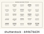 variation of sewing machine... | Shutterstock . vector #644676634