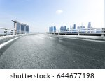 empty road with landmark... | Shutterstock . vector #644677198