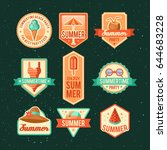 summer logo vector illustration.... | Shutterstock .eps vector #644683228