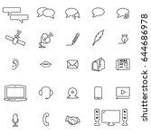 communication icons   Shutterstock .eps vector #644686978