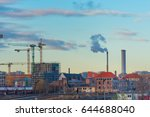 a glimpse of berlin with trams... | Shutterstock . vector #644688040