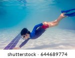Underwater Young Boy Fun In Th...