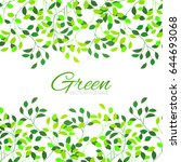 green foliage background.... | Shutterstock .eps vector #644693068