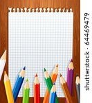 background with color pencils | Shutterstock .eps vector #64469479