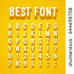 creative font with shadow... | Shutterstock .eps vector #644698708