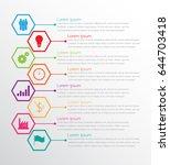 vector infographic templates... | Shutterstock .eps vector #644703418