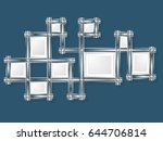 creative photo frame design and ... | Shutterstock .eps vector #644706814