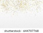 vector realistic golden... | Shutterstock .eps vector #644707768