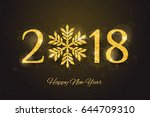 vector 2018 happy new year and... | Shutterstock .eps vector #644709310