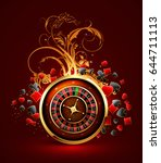 decorative background with a... | Shutterstock .eps vector #644711113