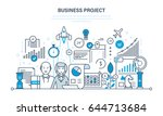 business project  control and... | Shutterstock .eps vector #644713684