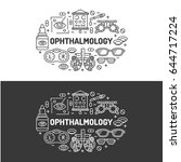 ophthalmology medical banner... | Shutterstock .eps vector #644717224