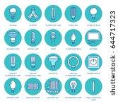 light bulbs colored flat line... | Shutterstock .eps vector #644717323