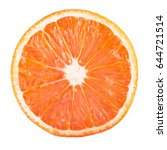 grapefruit isolated on white... | Shutterstock . vector #644721514