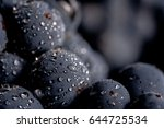 close up  berries of dark bunch ... | Shutterstock . vector #644725534