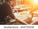 professional carpenter working...   Shutterstock . vector #644726530