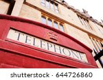 exterior of old fashioned red... | Shutterstock . vector #644726860